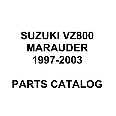 Suzuki VZ800 Marauder 1997-2003 parts catalog